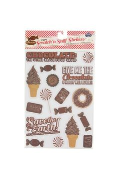 scented stickers CHOCOLATE