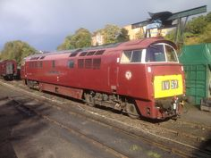 Class 52 Western in Red Electric Locomotive, Diesel Locomotive, Steam Locomotive, Steam Railway, Electric Train, British Rail, Great Western, Vintage Travel Posters, Diesel Engine