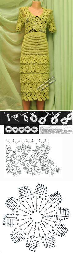 Платье Воланчики — работа Ефимии Андреевских - вязание крючком на kru4ok | crochet | Постила