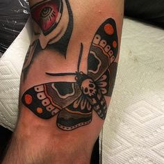 """""""Death's Head moth by Ryan Cooper Thompson at Fountain City Tattoo in Kansas City, MO."""" by Keenan_Eli in tattoos"""