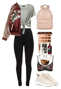 Untitled #489 by emmeleialouca on Polyvore featuring Topshop, NIKE, Givenchy, Frency & Mercury, tarte, Too Faced Cosmetics and Solantu