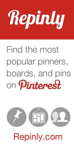Interesting! Find the most popular pinners, boards, and pins on Pinterest. Get clear overview and stats on what is trending now in different categories.  http://repinly.com