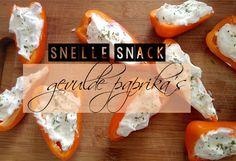 Van Birte kregen we dit lekkere recept voor gevulde mini paprika's toegestuurd. Een heel lekker en zomers recept dat je binnen een mum van tijd kunt maken. Serveer de gevulde mini paprika's als snack