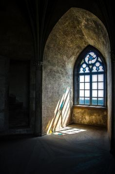 A place to share beautiful images of interior design, residential architecture and occasional other. Gothic Architecture, Beautiful Architecture, Chateau Medieval, Window View, Through The Window, Light And Shadow, Doorway, Windows And Doors, Arches