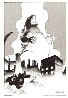 Godzilla by Mike Mignola
