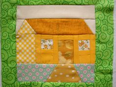 cottage house quilt block