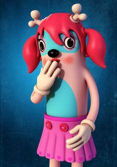 Colourful and fun 3D character design by Teodoru Badiu.