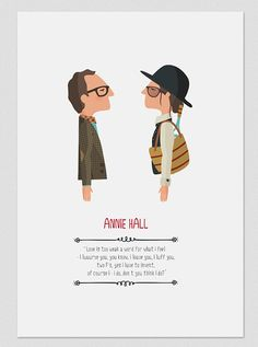 Illustration. Annie Hall. Based on the film by by Tutticonfetti