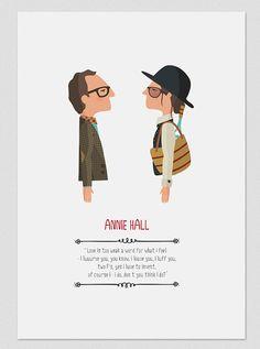 Ilustración. Annie Hall. Basada en la película de por Tutticonfetti
