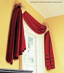 Double Scarf Swag Window Valance Ideas Fabrics Window
