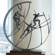 online shopping for Global Views Climb The Top Sculpture, Oversized Item from top store. See new offer for Global Views Climb The Top Sculpture, Oversized Item Sculpture Metal, Abstract Sculpture, Wall Sculptures, Fish Sculpture, Welding Art Projects, Steel Art, Wire Art, Wrought Iron, Climbing