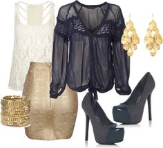 """""""Navy Night Out"""" by kenzie-jo on Polyvore"""