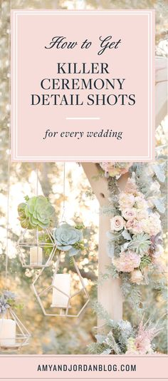How to get killer ceremony detail shots at everyone of your weddings!