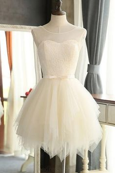 #shortpromdresses, Tulle Prom Dresses, Knee Length Prom Dresses, Short Prom Dresses, Prom Dresses Short