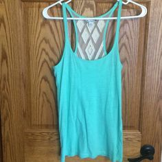 American Eagle Tank Mint AE tank with sheer racer back. Only worn a few times. American Eagle Outfitters Tops Tank Tops
