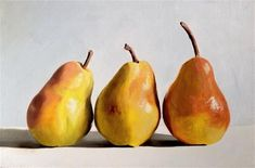"Daily Paintworks - ""Three Pears"" - Original Fine Art for Sale - © James Coates"
