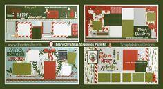 Two Page Scrapbook Layout Beary Christmas CTMH Holiday Family Merry Home #scraptabulousdesigns #scrapbooking #pagekits #cricutexplore #ctmhbearychristmas
