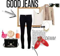 """Good Jeans"" by luckylovelylydia ❤ liked on Polyvore"