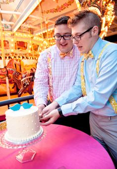 Adorable!!! This gay wedding at a children's museum wins the internet today | Offbeat Bride