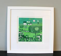 Fine Art Print, Home Decor, Wall Decor, Wall Hanging, Linocut print, Wedding Gift, Gallery Wall Art,Printmaking, Giclee Print, Digital Print by Laylart on Etsy