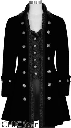 ChicStar Victorian Steampunk Coat by Amber Middaugh and Jennie Rage