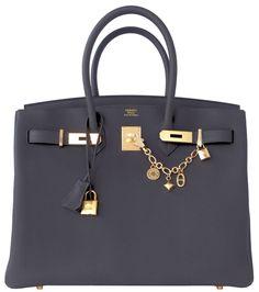 Hermes Graphite 35cm Togo Birkin Gold Hardware Gray Bag X Stamp - Hermes…
