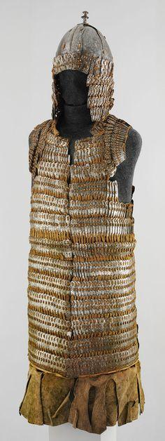 Lamellar armor and helmet [Tibetan] (36.25.53a,b) | Heilbrunn Timeline of Art History | The Metropolitan Museum of Art