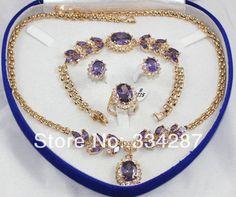 good Bridal Wedding Lovely Sets 18K GP Purple amethyst pendant necklace bracelet earring Stud Ring,   Engagement Rings,  US $37.47,   http://diamond.fashiongarments.biz/products/good-bridal-wedding-lovely-sets-18k-gp-purple-amethyst-pendant-necklace-bracelet-earring-stud-ring/,  US $37.47, US $29.98  #Engagementring  http://diamond.fashiongarments.biz/  #weddingband #weddingjewelry #weddingring #diamondengagementring #925SterlingSilver #WhiteGold