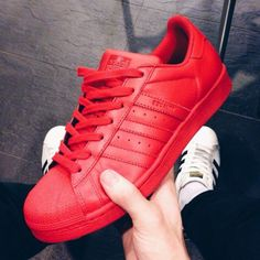 Red Adidas supercolor