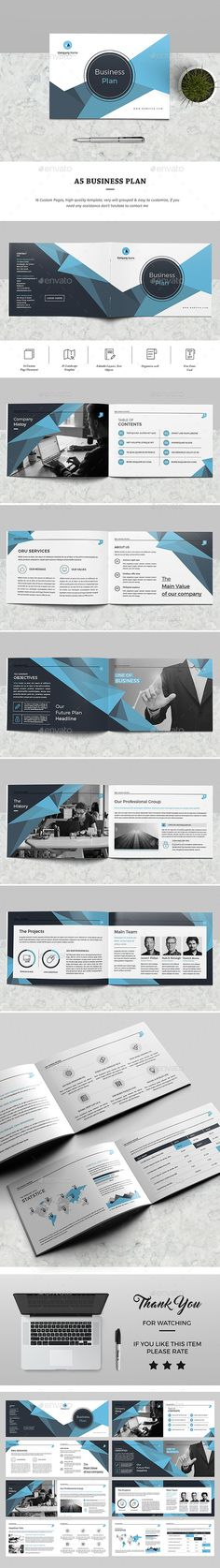 A5 Business — InDesign INDD #minimal #brochure design • Download ➝ https://graphicriver.net/item/a5-business/19395880?ref=pxcr