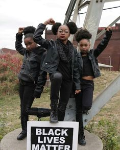 The revolution will not be televised. #puffballsrock ⠀ #BlackGirlMagic #magicpuffballs : @desiree_thekid_model and @jaleah_idoitall