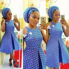 Check Out This Lovely Ankara Short Gown Styles - DeZango Fashion Zone