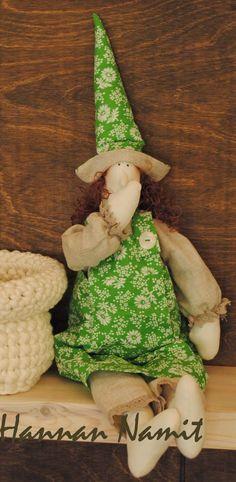 Pääsiäisen tilda-noita. Friendly Easter witch. Sewing.