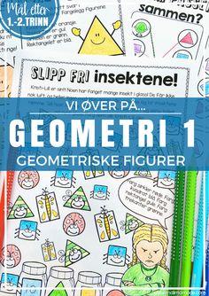Malimo.no - Vi øver-serien: Geometri 1 - geometriske figurer. Tre viktige mengdetreningsområder i grunnleggende geometri!