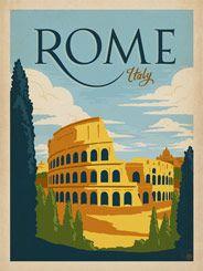 Italian Travel Poster Venezia #2 Vintage Travel Art Print Golden Age of Travel