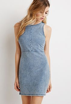 Denim Bodycon Dress | Forever 21 | #thelatest