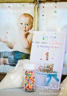 Baby Boy's Cake Batter & Sprinkles Party favors recipe book Sprinkle Shower, Sprinkle Party, Baby Boy Cakes, Cakes For Boys, 1st Birthday Parties, 2nd Birthday, Birthday Ideas, Cake Batter, Party Time
