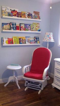 Dr. Seuss inspired nursery...I love this nursery idea...maybe we could make a list of books and do some kind of theme