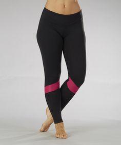 Loving this Black & Wildberry Runner Leggings - Women on #zulily! #zulilyfinds