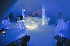 Home design, Hotel De Glace Restaurant Design Ideas Made From Ice: hotel glace quebec one of the ice hotel in Canada Ice Hotel Quebec, Quebec City, Torre Cn, Ice Hotel Sweden, Wow Travel, Unusual Hotels, Ice Bars, Ice Castles, Lappland