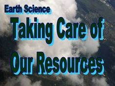 Taking Care of Our Resources-   This 72 slide PowerPoint can be utilized many times during a unit such as: introduction, discussion starters, interactive activities, review, or assessment. It covers topics such as renewable & nonrenewable resources, fossil fuels, and water supply. It is divided into two sections. The questions are the same in both sections but not in the same order.   Section 1: Answers are revealed.    Section 2: Answers are NOT revealed. Questions are grouped by type.