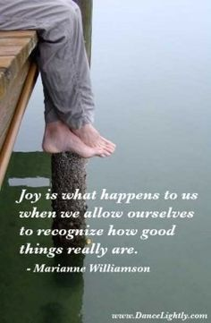 joy is what happens