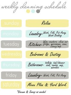 Weekly cleaning routine >>> I'm always looking for a more effective routine. I hope one eventually works.