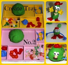 Four Little Piglets: CREATE TRAY NO.2 PLAY-DOH CREATIONS