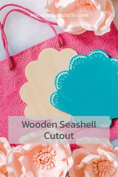 """This is an adorable seashell wooden cutout just waiting to be decorated into crafty goodness! 8"""" in height, and 7"""" in width, make this blank wooden sea-shell cutout your own with acrylic paint, decoupage, photo collages, craft embellishments, or-if you want to keep the kids happy- glitter and marker. Wood Burning Tool, Photo Collages, Wooden Cutouts, Woodpeckers, Baltic Birch Plywood, Seashell Crafts, All Craft, Business For Kids, Wooden Diy"""