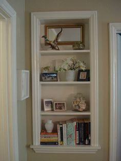 Shelf In Wall Tutorial here: https://www.wwgoa.com/articles/projects/between-the-studs-display-shelves/