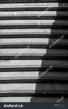 Abstract stairs in black and white, stairs in the city, granite stairs. stairs with shadow