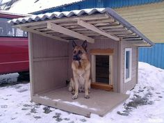 Diy outdoor dog kennel window 49 Ideas Diy outdoor dog kennel window 49 Ideas – Marjorie B. Pallet Dog House, Wooden Dog House, Wooden Dog Kennels, Large Dog House, Dog House Plans, House Dog, Animal Room, Animal House, Grande Niche
