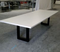 Clean And White Concrete Table With Style