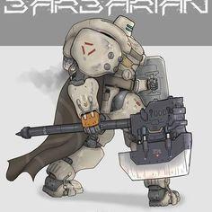 Sir Fat armor! #mech #armor #robot #drawings #soldier #poster #axe #color #conceptart #sketch #anime #instaart #design #artwork #nomansnodead